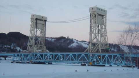 Lift bridge over Portage Canal connects Hancock to Houghton, Mich. Credit: iWitness Weather contributor markin 2