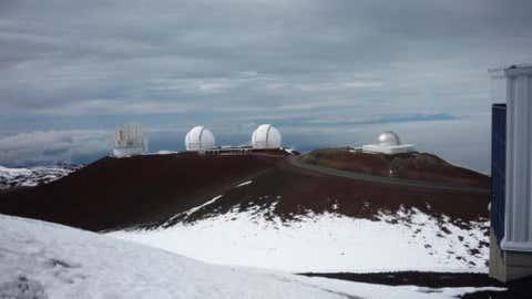 Snow covers the summit of Maunka Kea, Hawaii.  (Photo credit:  iWitnessWeather contributor dtandrews)
