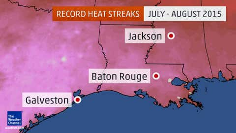 These locations have already set heat streak records.