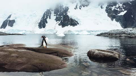 The photo above is an iPhone shot showing a landscape in Antarctica and the subantarctic archipelago of South Georgia, captured by New Zealand-born photographer John Bozinov.