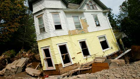 Irene is most remembered for its severe inland rainfall flooding from New York and New Jersey into New England. Total damage was estimated at $15.8 billion.  (Photo: Monika Graff/Getty Images)