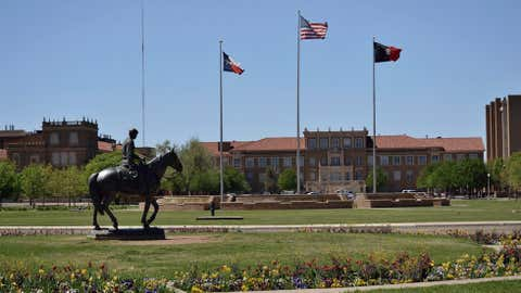 A hot sunny day at Texas Tech in Lubbock in April 2012.