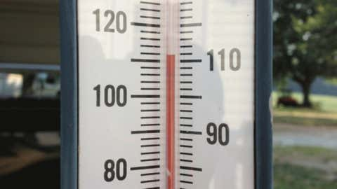A backyard thermometer read 112 degrees in Westminster, S.C. on June 30. .