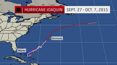 A look at the historical track of Hurricane Joaquin from late September into early October of 2015.