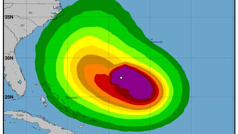 Hurricane Jose wind speed probabilities. (nhc.noaa.gov)