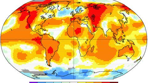 Global June 2015 temperature anomalies from 1951-1980 base period from NASA-GISS analysis.