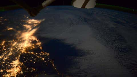 View of Winter Storm Juno from the International Space Station tweeted on Jan. 28, 2015. (Terry W. Virts/Twitter)