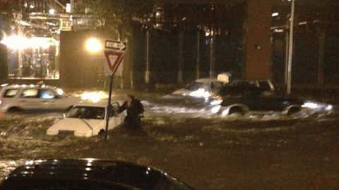 iWitness user JordanF05 sent this photo of cars under water on Ave C and 14th Street.