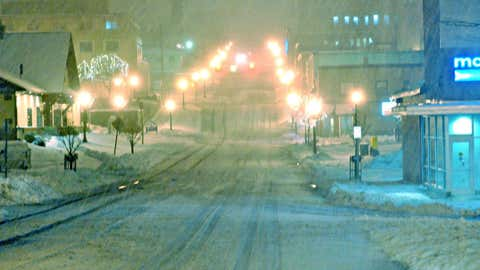 17,270.7 inches or 1,439.2 feet of snow has fallen in Marquette since full records began in the winter of 1885-1886. (AP Photo/The Mining Journal, Elizabeth Bailey)
