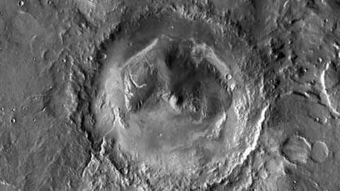 Gale Crater, the site of Curiosity's landing zone, is a 12-mile-by-4-mile area inside an ancient impact basin located near Mars' equator.