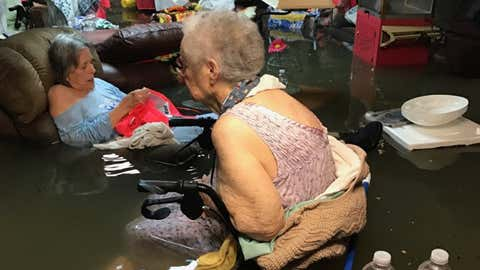 A La Vita Bella nursing home in Dickinson Texas was evacuated after a photo of residents in waist-deep water went viral.