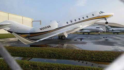 """Naples resident Judith """"Judge Judy"""" Sheindlin's plane was damaged after severe weather swept through the area over the weekend. (Ivan Wolin)"""