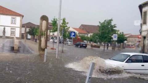 """""""Inundações e granizo hoje no Norte de Portugal"""""""