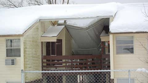 Members of the West Virginia Army National Guard traveled to an apartment complex in Summersville, W.Va., to assess the structural damage incurred after Superstorm Sandy brought over two feet of snow to the mountainous region. (Staff Sgt. Debra Richardson/West Virginia Army National Guard)