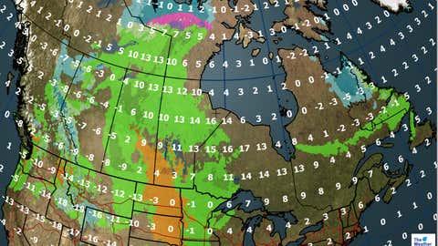 Canada forecast for Saturday, September 30, 2017.