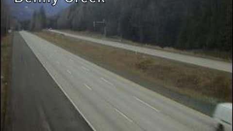 Washington State DOT camera showing bare ground along I-90 near Snoqualmie Pass on Feb. 11.