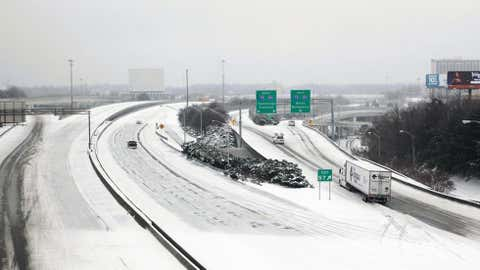 Cedartown, a 60 mile drive to the northwest of Atlanta, recorded 19.3 inches of snow on March 3, 1942. Above: Snow covers I-20 in Atlanta after a snowstorm in early January 2011. Credit: Jessica McGowan/Getty Images