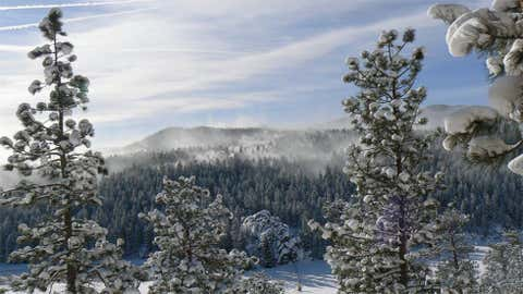 Georgetown, located along I-70 to the west of Denver, holds the record for the greatest single-day snowfall in the entire United States with 63 inches on December 4, 1913. Image: Wintry scene in Evergreen, Colo. from iWitness Weather contributor daveandkaren.