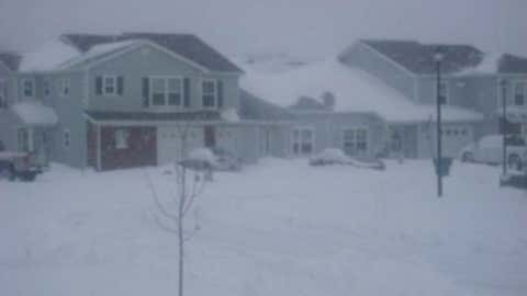 Dover, the capital of Delaware, holds the record in the state with 25 inches on February 19, 1979. Image: Snowy Dover AFB housing in December 2009 from iWitness Weather contributor Jason302.