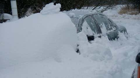 Wolf Ridge ELC in northeast Minnesota recorded three feet of snow on January 7, 1994. Image: A car buried by snow in Duluth on Christmas Day in 2009. From iWitness Weather contributor nicki86.