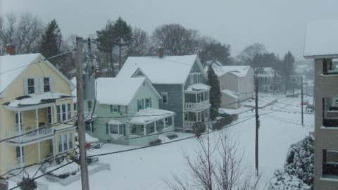 Woonsocket measured 30 inches on February 7 during the Blizzard of 1978. Image: Snowy Woonsocket in February 2009 from iWitness Weather contributor Brian88.