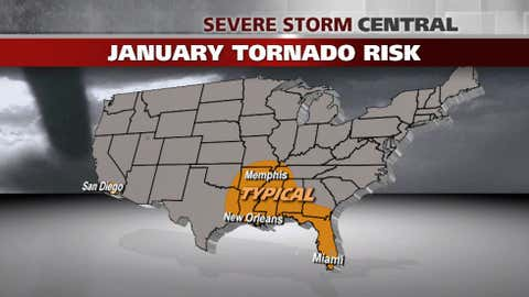 30-year average number of tornadoes through 2011: 27