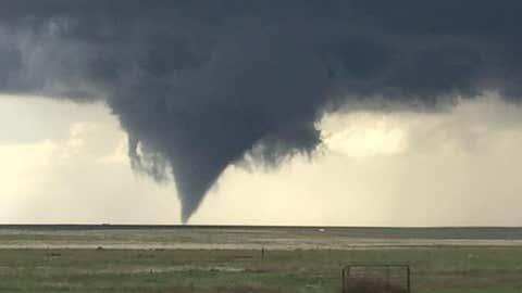 A tornado seen southeast of Kit Carson, Colorado. (Twitter/@dbehringer27)