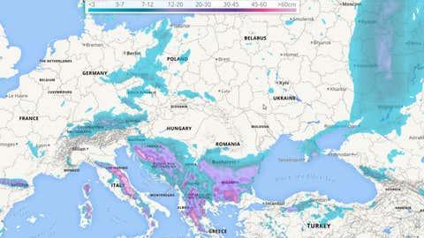Schneechaos in Europa