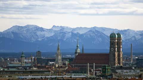 München bei Föhn