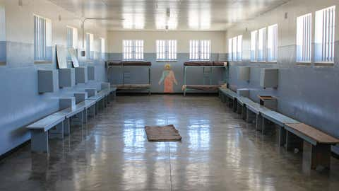 Prison Cell of Robben Island Prison in Cape Town, South Africa, Africa
