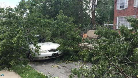 Storm damage at 9th and Butler in Chester, Pa. (@kellickyle/twitter)