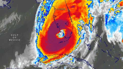 After causing severe damage on Mexico's Yucatan Peninsula, Wilma made landfall just south of Naples, Fla. as a large   Cat. 3 hurricane. Even though it weakened to a Cat. 2 while crossing the peninsula, it produced widespread wind damage   in S. Fla. Wilma is also known for its extreme intensity as a Cat. 5 in the northwest Caribbean.
