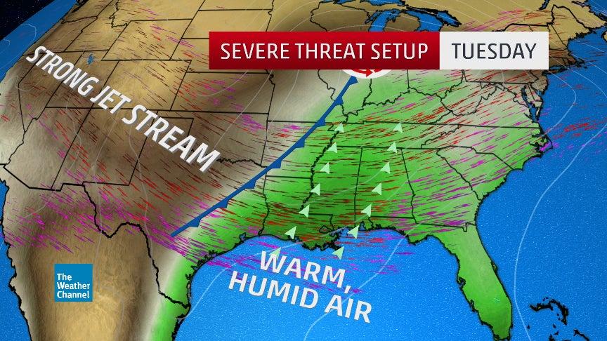 tornadoes strike deep south  at least ef3 damage confirmed
