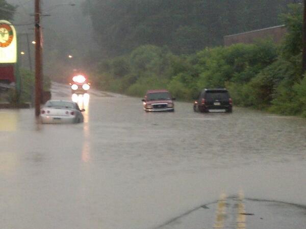 flash flooding in pittsburgh metro area