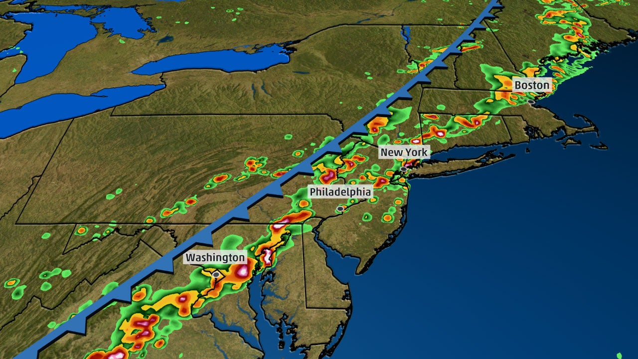 Severe Storms Cause 2- to 5-Hour Airport Delays at Major Northeast Hubs Tuesday; Funnel Cloud Reported in New York City