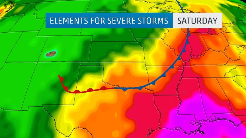 severe storms expected in the southern plains through