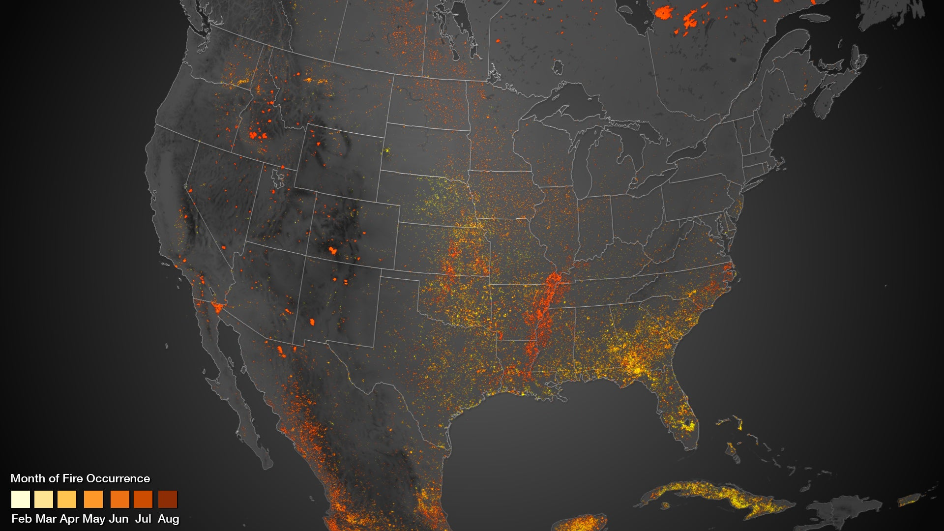 Us Wildfires Map 2013 Wildfire Map: NOAA's Satellites Show North America Ablaze