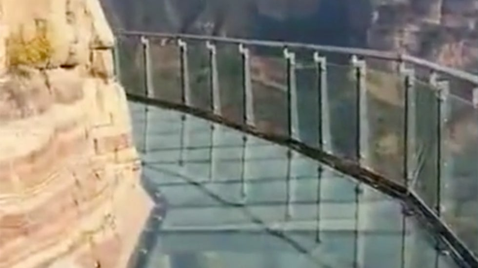 Glass Walkway in China Appears to Have Broken Pane