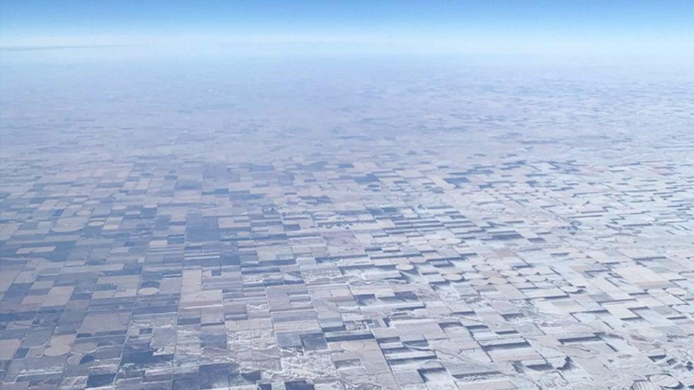 Incredible Illusion Makes Farmland Snow Look 3D