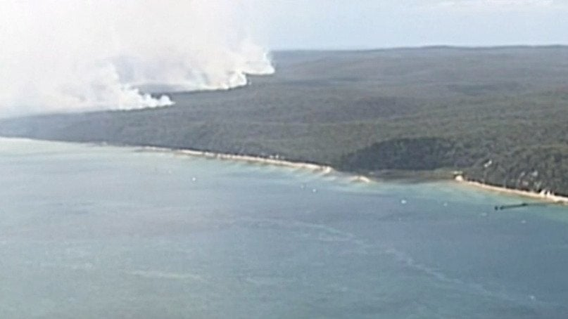 Out-of-Control Fire Rages Across Australia's Fraser Island