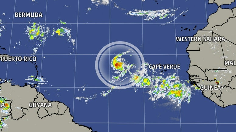tropical depression six forms in the eastern atlantic