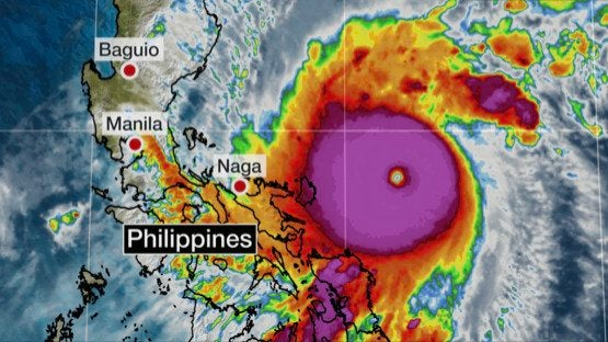 Dangerous Super Typhoon Goni to Slam Philippines