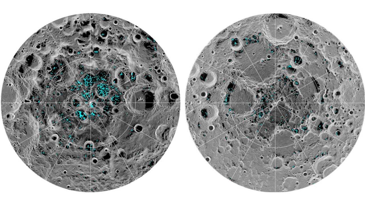 Water ice confirmed on moon's surface for first time - NASA says