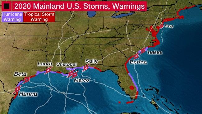 Tropical Storm Beta Becomes Record-Tying Ninth Mainland U.S. Landfall of 2020 Hurricane Season | The Weather Channel