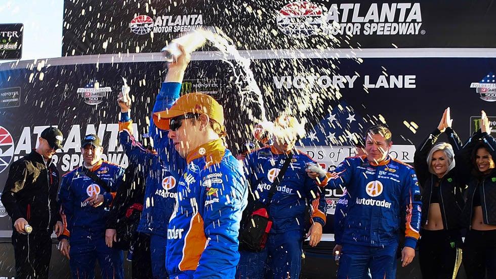 Brad Keselowski Shakes Off Flu to Win at Atlanta Motor Speedway