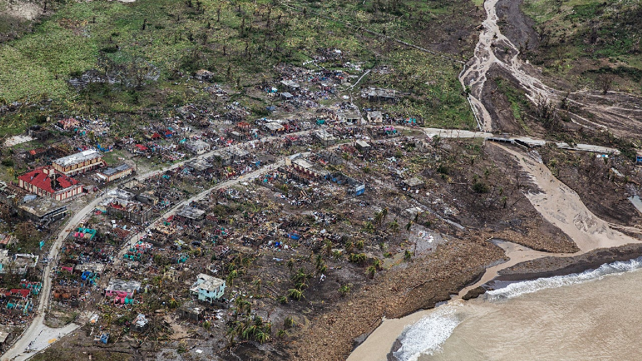 catastrophic hurricane matthew damage revealed in aerial
