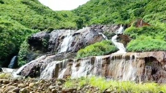 Golden Waterfall in Taiwan Stunning But May Be Toxic