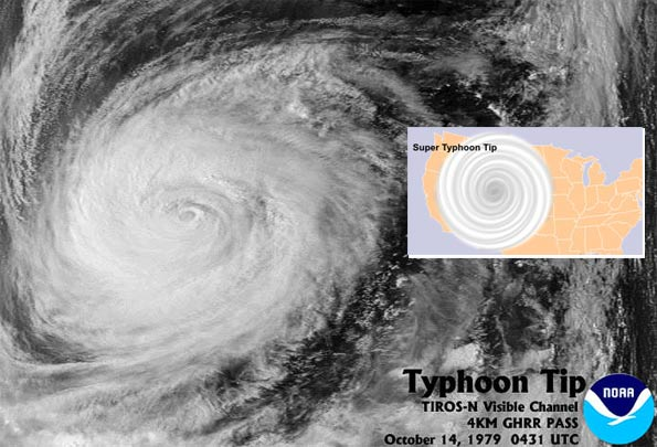 largest tropical cyclone ever recorded