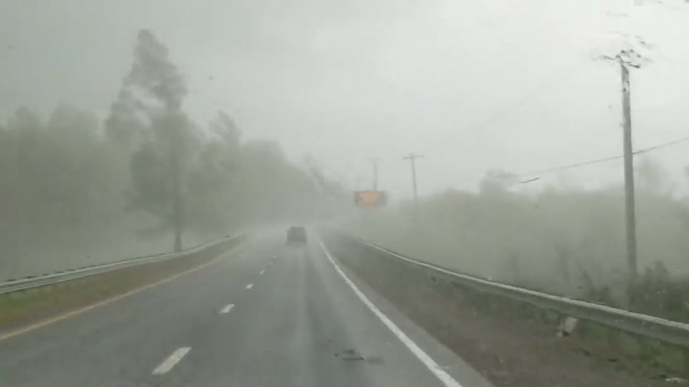 Watch: The Scary Moment You Realize You're About to Drive Into an EF3 Tornado