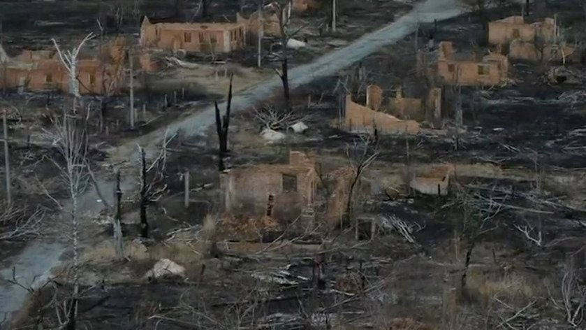 Devastation from Wildfires in Chernobyl Exclusion Zone